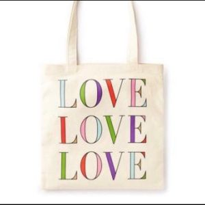 1 NEW Kate Spade Canvas Love Book Tote - GR8 GIFT!